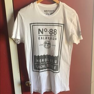 White 88Tees AUTHENTIC tee (Small)